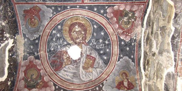 Maghalaant church frescoes, Kartli, Georgia