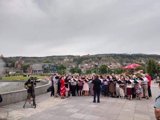 Capitol Hill chorale performs in Tbilisi while on performance tour organized by John Graham Tours