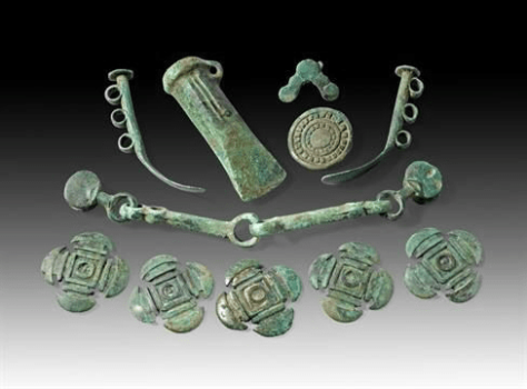 Bronze age jewelry from Georgia Colchis, see on the Viticulture and Highlands West cultural tour organized by John Graham Tours.