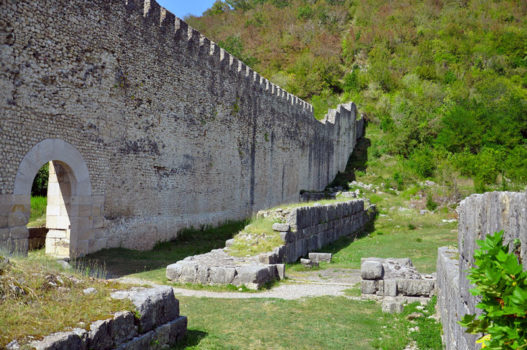 Nokalakevi (Archeopolis) fortress near the Black Sea coast, Colchis, Romans, Byzantines, fortress ruin seen on Viticulture and Highlands West tour organized by John Graham Tours.