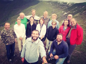 Hiking group in the Caucasus on John Graham Tours