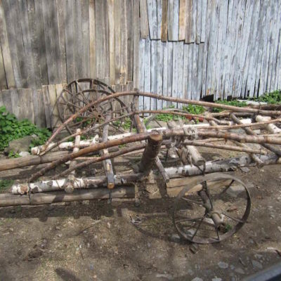 I was impressed with this ingenious firewood cart