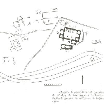 Plan of Rkoni Monastery complex