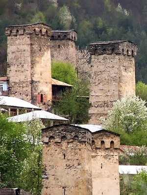 Towers in Svaneti, Georgia